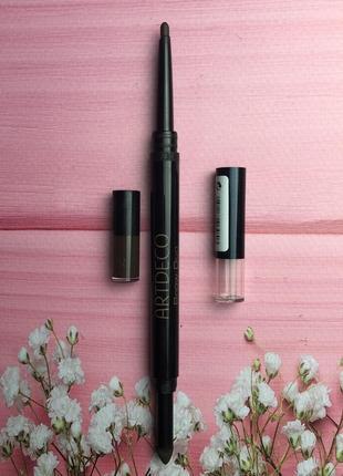 Artdeco brow duo powder & liner 16 /карандаш для бровей брюнетardeco