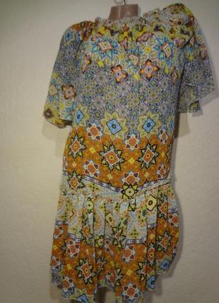 Красивое шелковое платье размер s-m-l