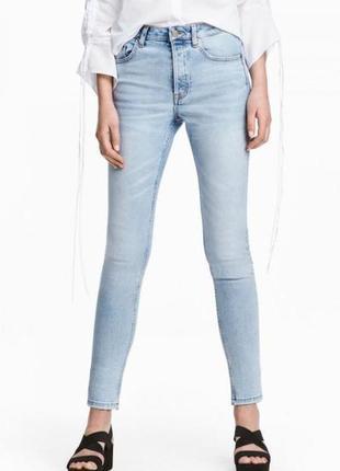 Оригинальные джинсы-skinny high ankle jeans от бренда h&m разм. 32