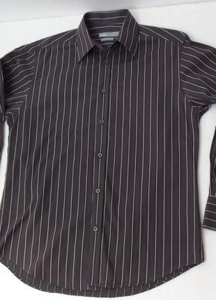 Jules. французская рубашка в полоску. ворот 40