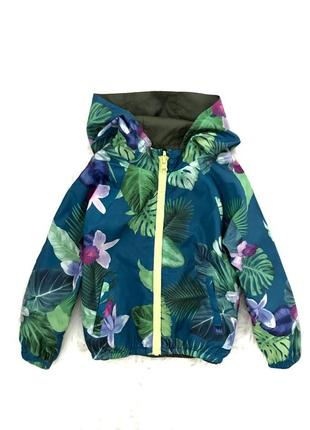 Двусторонняя куртка- ветровка zara. 4-5 лет.