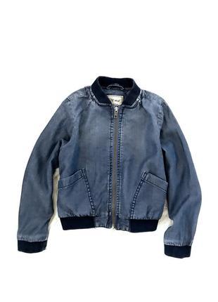 Стильная куртка- бомбер next. 6-8 лет.