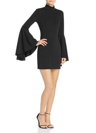 """Супер-эффектное коктейльное мини платье с рукавами """"ангел"""" и воротником стойка(сша)"""
