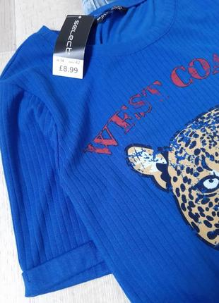 Новая  синяя футболка с тигром secret3 фото