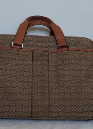 Брендовая кожаная сумка портфель ,известной американской фирмы сoach