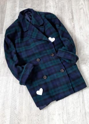 Темно-зеленое пальто marks&spencer