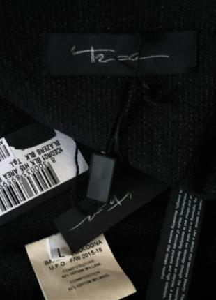 Полу-шерстяной эксклюзивный жакет блайзер на запах с драпировками на м10