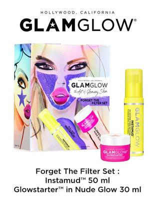Набор glamglow forget the filter set маска instamud 50 мл,крем glowstarter 30 мл