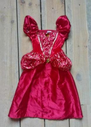 Карнавальное платьепринцесса белль 5-7 лет