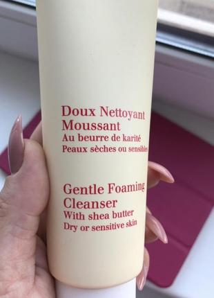 Clarins gentle foaming cleanser with shea butter3