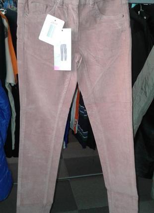 Вельветовые брюки скинни /цвет пыльная роза