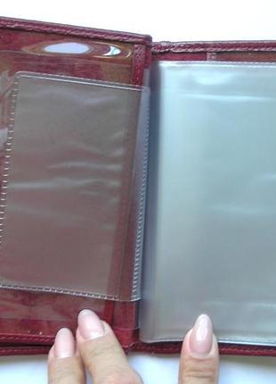 Документница для карт+ для паспорта,100% нат. кожа ската+телячья, есть доставка бесплатнo6