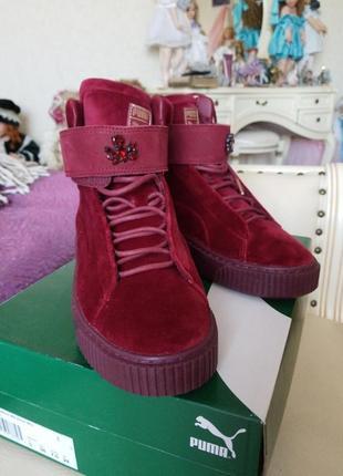Новые высокие велюровые ботинки puma оригинал