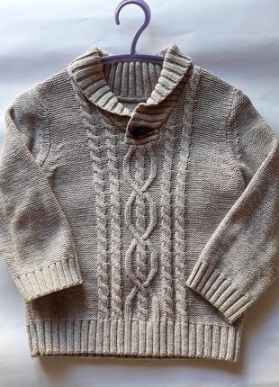 Стильный свитер для мальчика 2-3 года
