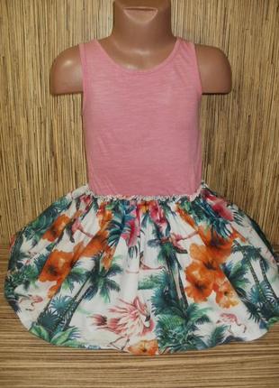 Летнее платье на 4 годика