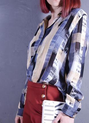 Удлиненная рубашка с геометрическим принтом, объемная блуза principles petite
