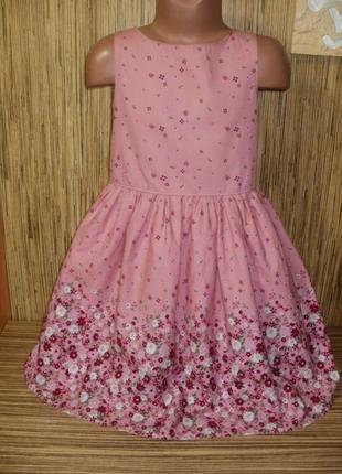 Нарядное платье с цветочным рисунком на 7-8 лет