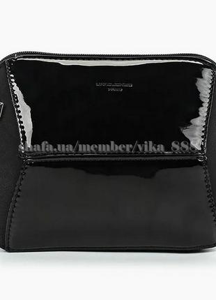 Клатч, сумка через плече с лаковой вставкой david jones 5832-1 черный2