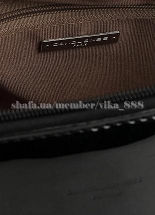 Клатч, сумка через плече с лаковой вставкой david jones 5832-1 черный4