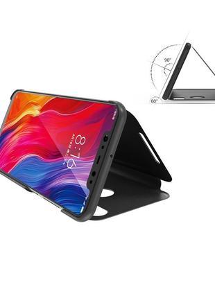 Чехол для телефона xiaomi mi mix 3 черный подставка с прозрачной крышкой