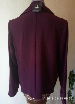Новый,с биркой жакет,куртка цвета марсала,тренд3