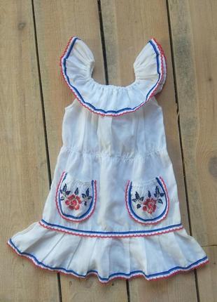 Платье украиночки 3-5 лет