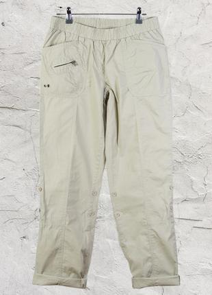Бежевые брюки-чиносы на резинке, широкие штаны marks & spencer2