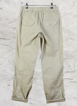 Бежевые брюки-чиносы на резинке, широкие штаны marks & spencer3