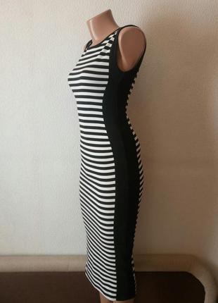 Крутое платье миди в полоску amisu