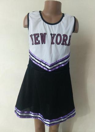 Платье черлидера 9-10 лет 134-140 см