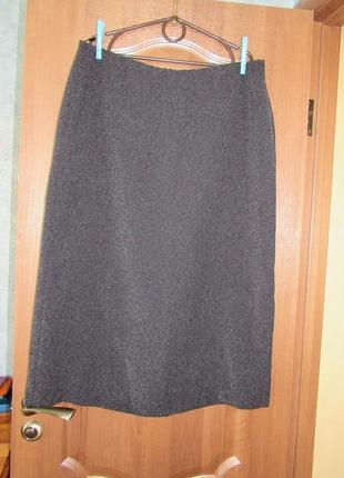 Базовая юбка миди прямого кроя от marks&spencer р.20 4xl. заходите и выбирайте!