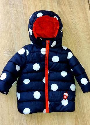 Красивая теплая деми куртка на 1 годик.