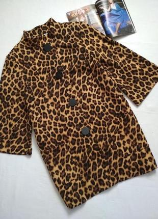 Тренд сезона !!! мега крутой леопардовый удлиненный пиджак ,блейзер,кардиган.