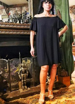 Красивое свободное миди платье с открытыми плечами yours