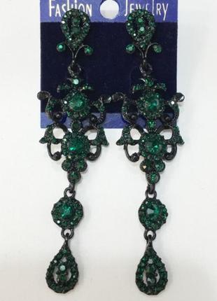 Вечірні зелені сережки