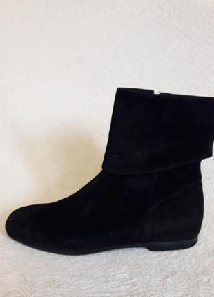 Стильные замшевые ботинки фирмы varese ( италия) р. 36 стелька 23,5 см
