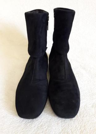 Стильные замшевые ботинки фирмы varese ( италия) р. 36 стелька 23,5 см3