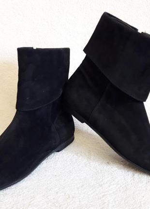 Стильные замшевые ботинки фирмы varese ( италия) р. 36 стелька 23,5 см5