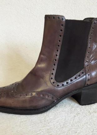 Стильные кожаные ботинки челси фирмы lavorazione artigiana ( италия) р. 37 стелька 24 см