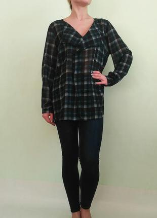 Шифоновая блуза в воланом 18