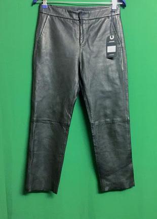 Кожаные укороченные брюки pepe jeans linda