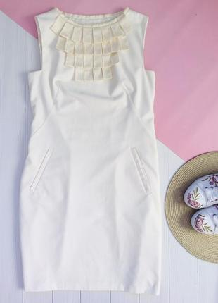 Платье футляр айвори классика офисное ted baker бренд
