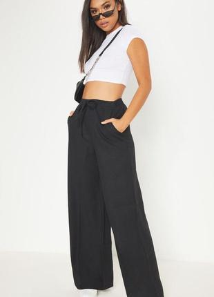 Обнова! брюки штаны палаццо прямые свободные на манжете на завязках новые качество