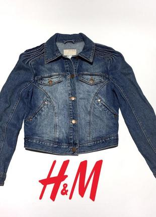 Короткая джинсовая курточка куртка от h&m размер m/10/38.