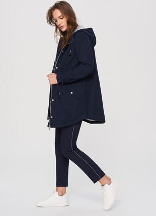 Обнова! люкс куртка удлиненная пальто парка синяя navy качество marc jacobs с подстежкой