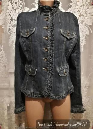 Новый пиджак/жакет/куртка из плотного котонна/джинса, размер л-ка