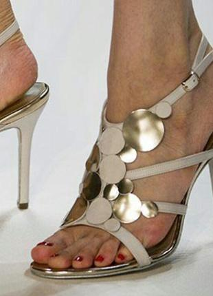 Шикарные туфли босоножки hogl  дизайнерские на каблуке шпильке размер 3,5 36 6 39 40