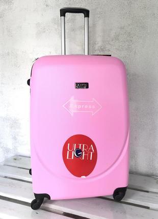 Большой чемодан пластиковый черный / валіза пластикова чорна