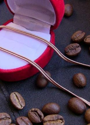 Цепочка/ланцюжок,50смх2 мм,позолота14к,медицинское золото/медичне золото