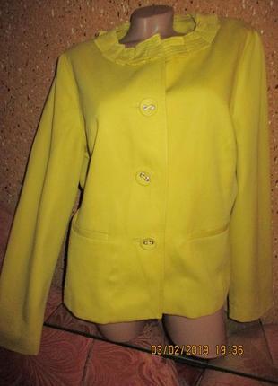 Boden*яркий лимонный жакет пиджак 16р